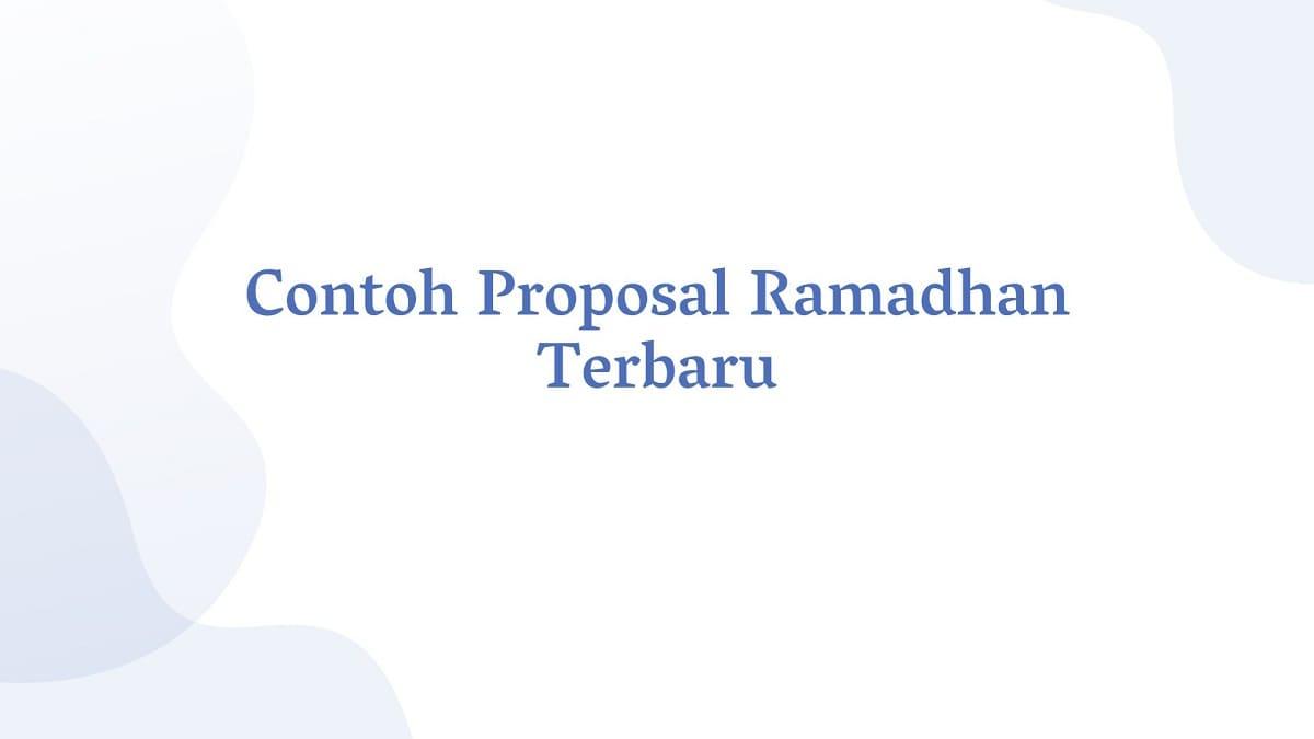 CONTOH PROPOSAL KEGIATAN RAMADHAN