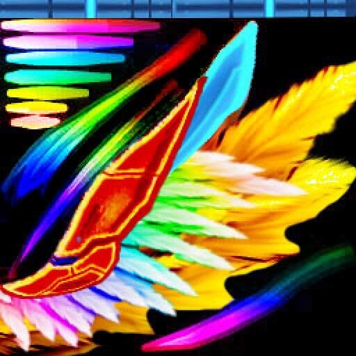 phoenix wing rainbow
