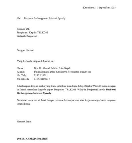 surat kuasa berhenti berlangganan speedy » PANDAIBESI.COM