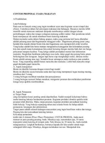 25 Contoh Proposal Usaha Bisnis Yang Baik Dan Benar Lengkap Doc