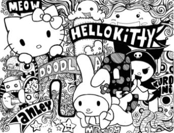 contoh doodle art