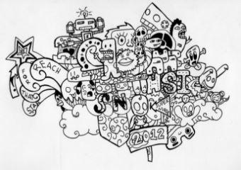 contoh doodle mudah