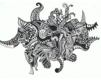 contoh doodle simpel