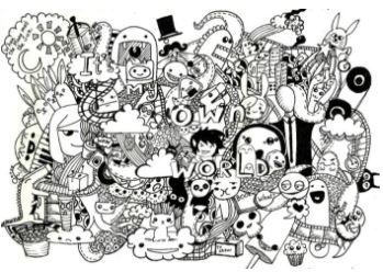 gambar dooddle ulang tahun