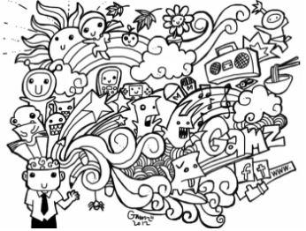 gambar doodle art