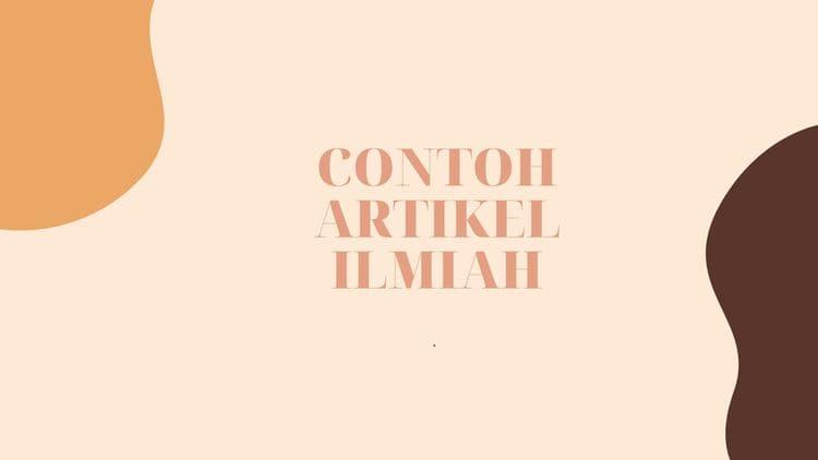 CONTOH ARTIKEL ILMIAH