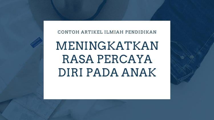CONTOH ARTIKEL ILMIAH PENDIDIKAN