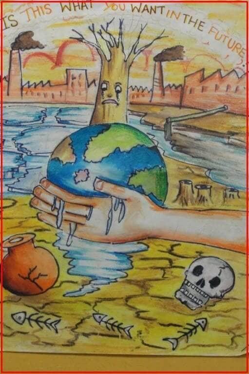 lukisan poster lingkungan hidup