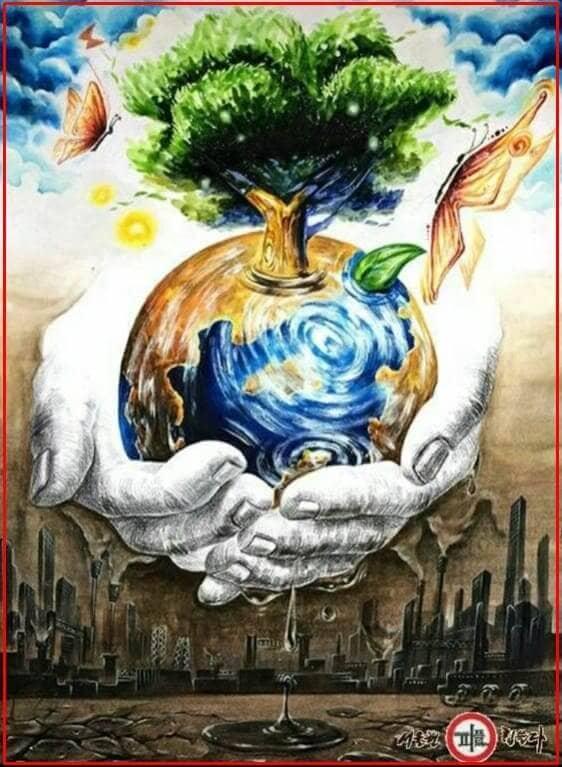 poster lingkungan alam